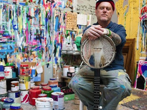 Artist, musician, DIY pioneer Tim Kerr is the featured artist tonight at Sweatshop Gallery.