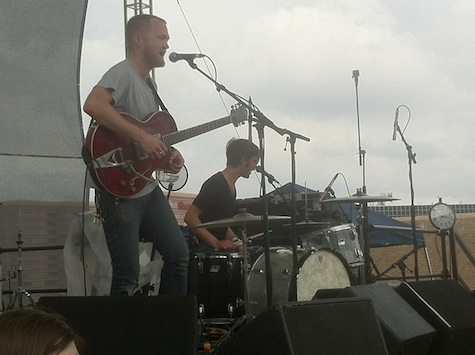 Two Gallants at the 9th &amp; Trinity parking garage, SXSW, March 16, 2012.