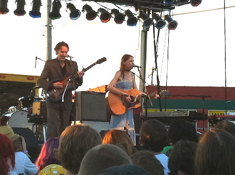 Gillian Welch and David Rawlings at The Concert for Equality, July 31, 2010.