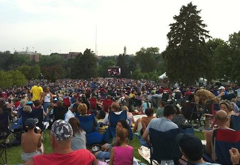Kansas at Memorial Park, July 3, 2010.